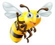 Cartoon Bee Waving - 57813330