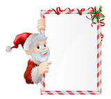 Santa Cartoon Xmas Sign
