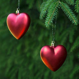 Christmas decoration two hearts
