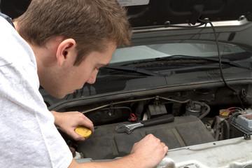 Repairing under car hood