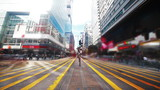 Road in Hongkong. Timelapse