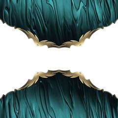 Blue edges with gold trim. Element design