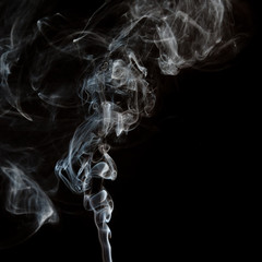 The abstract figure of the smoke