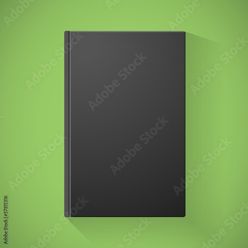 Blank black book cover