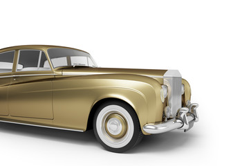 Isolated gold luxury vintage car