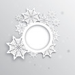 Christmas greeting with decorative snowflake