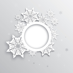 Christmas greeting with decorative snowflake