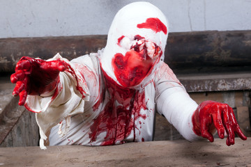 bloodied bandages zombie