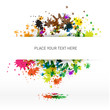 Vector abstract colorful background with place to write text