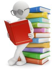Männchen Bücher lesen