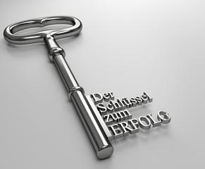 der Schlüssel zum Erfolg grau