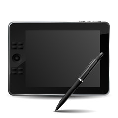 Graphic tablet with pencil