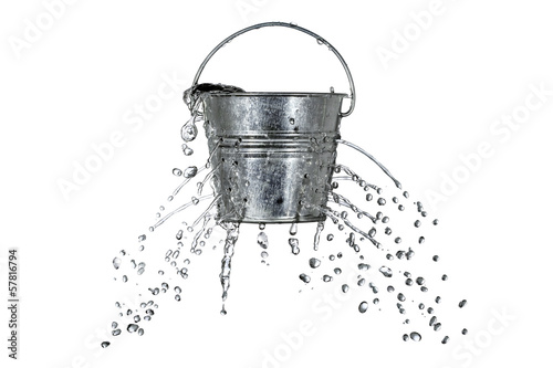 canvas print picture bucket with holes