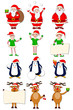 vector illustration of funny Christmas character against white