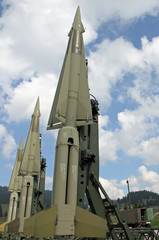 powerful military intercontinental missiles ready for launch fro