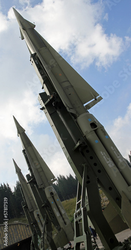 three missiles ready for launch