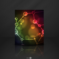Neon Molecule Illustration.