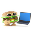 Laptop burger