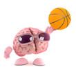 Brain plays basketball