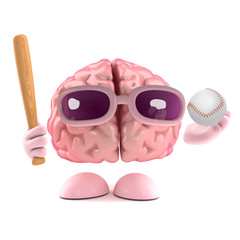 Brain plays baseball