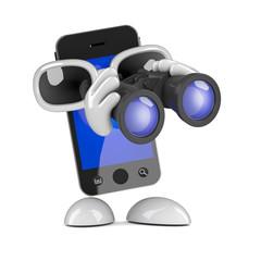Smartphone has binoculars