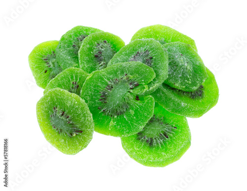 Dried Kiwi Fruit On White Background