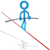 Glowing Tight Rope Stick Man