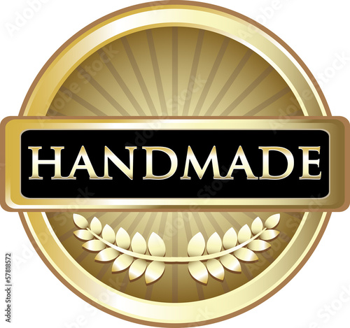 Handmade Gold Product Label