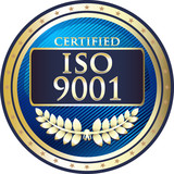 ISO 9001 Certified Blue Emblem