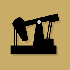 Oil industry icon or sign, vector illustration