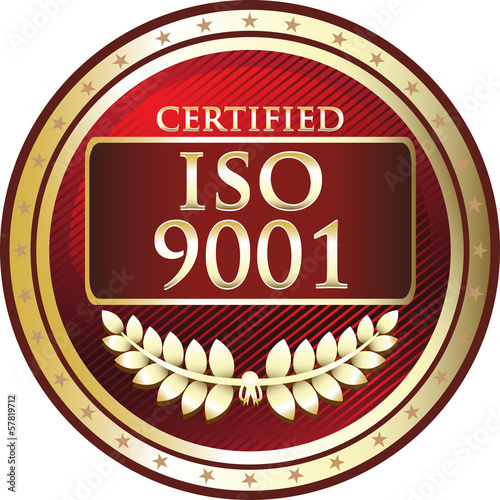 ISO 9001 Certified Red Emblem