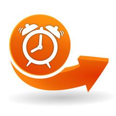 réveil sur bouton web orange