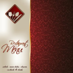 Restaurant menu_red