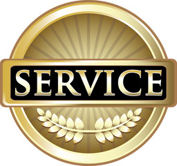 Service Gold Vintage Label
