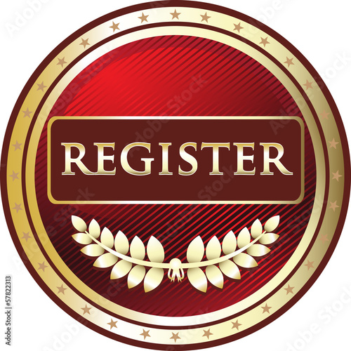 Register Red Vintage Label