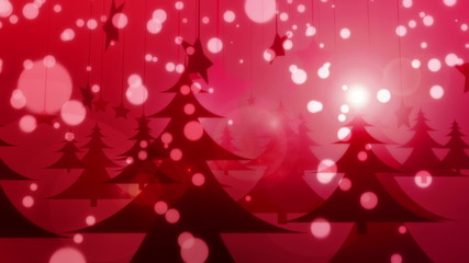 Red Christmas - Glamorous Winter Video Background Loop