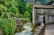 River and cottage in Castleton,Derbyshire