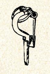 Ancient fibula (2.-6. century, Kurzeme, Latvia)
