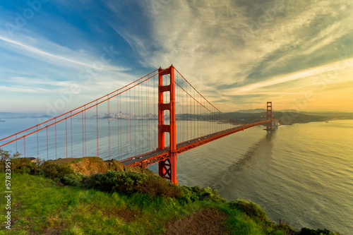 Foto op Plexiglas San Francisco Golden Gate Bridge at sunset