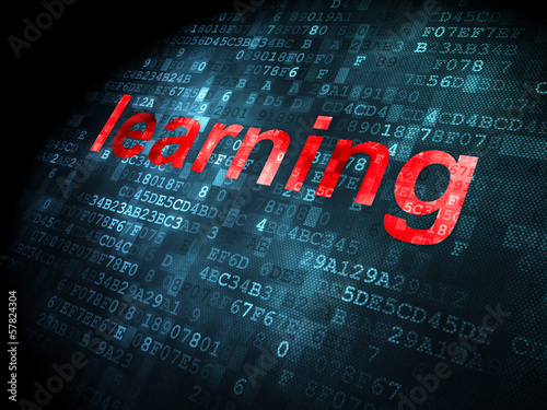 Education concept: Learning on digital background