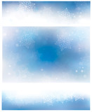 Vector blue banners and background for winter and Christmas desi