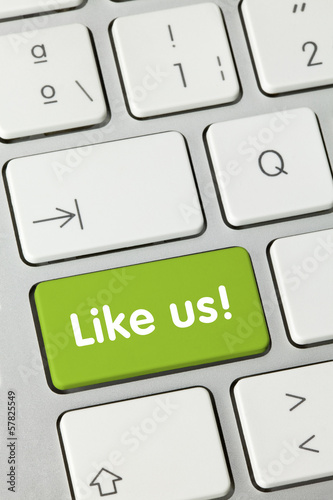 Like us! keyboard key