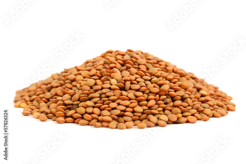 Heap of lentil seeds