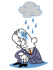 鬱状態のビジネスマン
