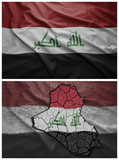 Iraq flag and map collage