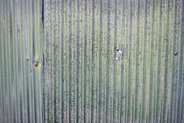 Galvanized corrugated iron background