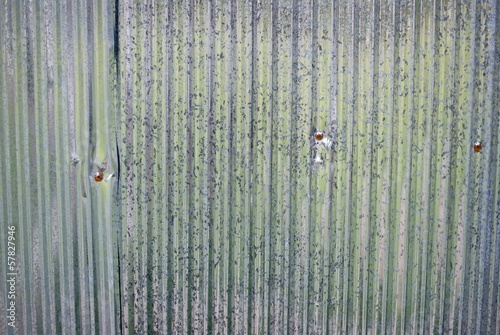 Galvanized corrugated iron background
