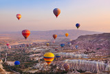 Fototapety Hot air balloon flying over Cappadocia Turkey