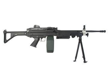 us army machine gun isolated on white