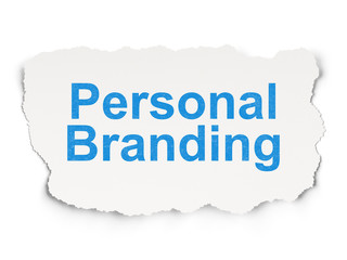 Marketing concept: Personal Branding on Paper background